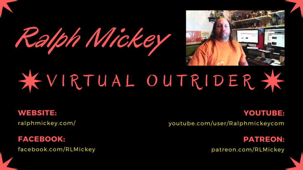 Ralph Mickeys business card picture with URLs to website, Facebook page, YouTube page and Patreon Account.