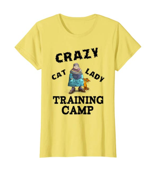Crazy Cat Lady Yellow Tshirt